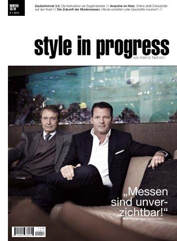 Style in Progress 1/2013 - Jeanette Fuchs