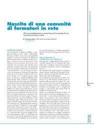 Nascita di una comunità di formatori in rete - TD Tecnologie Didattiche