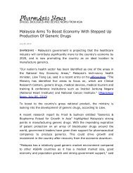 Malaysia Aims To Boost Economy With Stepped Up Production Of ...