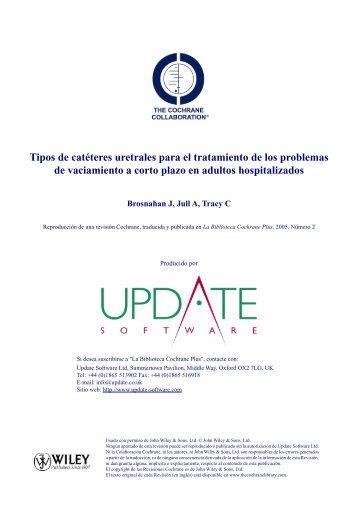 Tipos de catéteres uretrales para el tratamiento de los ... - Rima