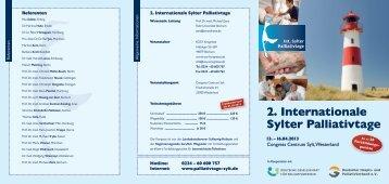 2. Internationale Sylter Palliativtage - Palliativtage-sylt.de