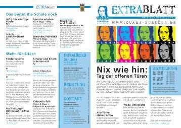 Extrablatt Nr. 4 zum Tag der offenen Türen - Schulforum