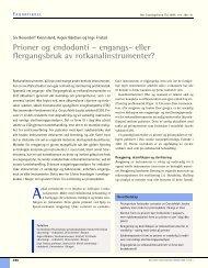 Prioner og endodonti – engangs- eller flergangsbruk av ...