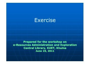 Exercise Library(pdf) - KUET
