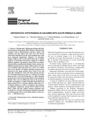 Orthostatic Hypotension in Children with Acute Febrile ... - fellowiki