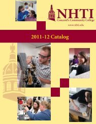 Curriculum for 11-12 - NHTI - Concord's Community College