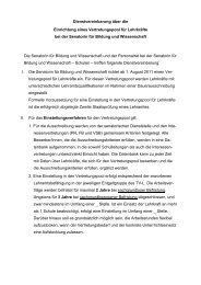 Dienstvereinbarung Vertretungspool - Personalrat Schulen Bremen