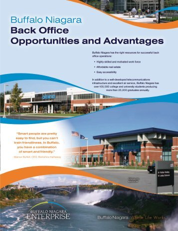 Buffalo Niagara Back Office Opportunities and Advantages