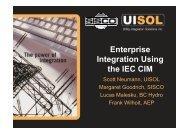 Enterprise Integration Using the IEC CIM - CIMug - UCAIug
