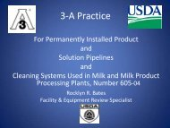 3-A Practice - 3-A Sanitary Standards