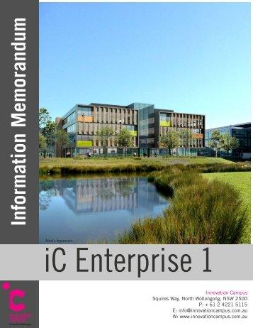 iC-E1 Brochure - Innovation Campus