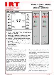 4 ASI to G.703 MUX & DeMUX Types MMM-4230 & MMX ... - AVW