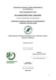 dla nadleśnictwa lubliniec - Państwowe Gospodarstwo Leśne LASY ...