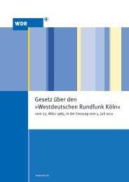 GESETZ ÜBER DEN - WDR.de