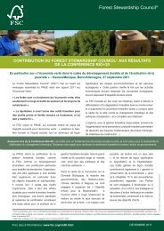 Forest Stewardship Council® - FSC - Forest Stewardship Council