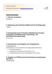Struktur der Ideenskizze - Uhlberg Advisory GmbH