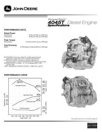 performance curve performance data - John Deere Industrial Engines