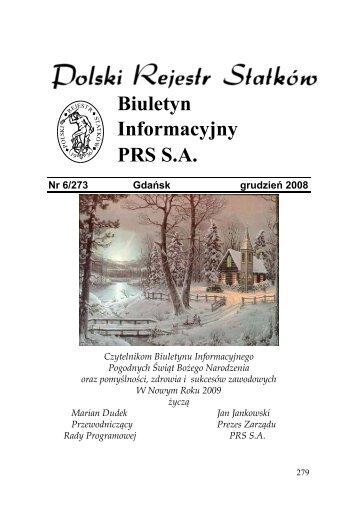 Nr 6/273 Gdańsk grudzień 2008 - PRS