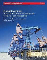 Economies of scale How the oil and gas industry cuts costs through ...