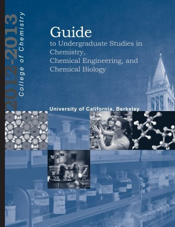 12-13 Coc Guide v7 - College of Chemistry - University of ...