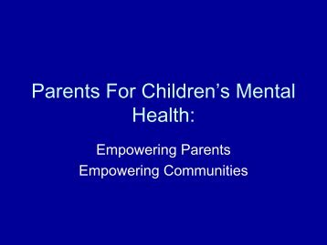 From Here to There: - Children's Mental Health Ontario