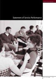 Statement of Service Performance - University of Canterbury