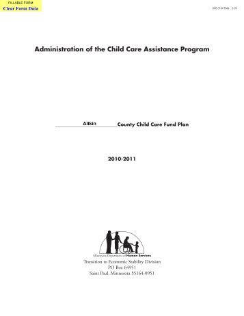 Aitkin County Child Care Assistance Plan (PDF/409kb)