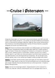 Cruise i Østersøen