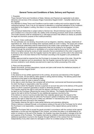 Terms and conditions PDF - Wagon Automotive Nagold GmbH