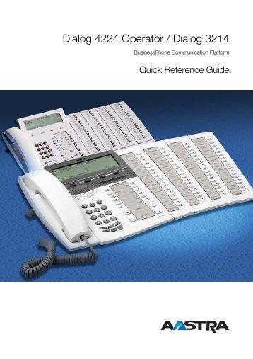 BusinessPhone - Dialog 4224 Operator / Dialog 3214 - Aastra