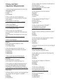 Quiz: Allgemeine Religionskunde (plus Lösung) - Page 2
