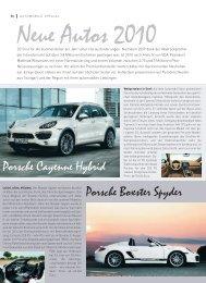 Porsche Cayenne Hybrid Porsche Boxster Spyder