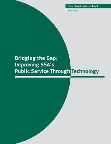 Bridging the Gap: Improving SSA's Public Service Through ...