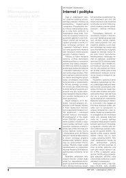 Internet i polityka - Biuletyn AGH
