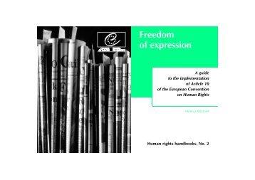Freedom of expression - Coe Field Office Sarajevo