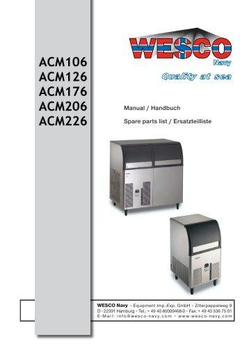 Manual / Handbuch Spare parts list / Ersatzteilliste - WESCO-Navy