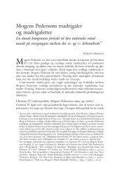 Mogens Pedersøns madrigaler og madrigaletter. En dansk ... - dym.dk