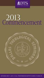 commencement program - Dallas Theological Seminary