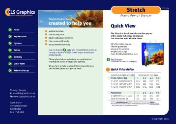 Stretch Product Guide 3 - CLS Graphics