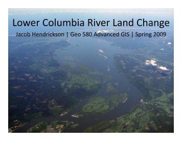 Lower Columbia River Land Change Analysis