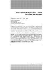 Interoperability test generation : formal definitions and algorithm - Irisa