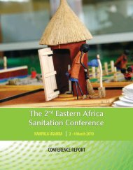 2nd Eastern Africa sanitation conference - a conference ... - WaterAid