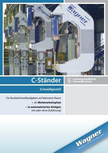 C-Ständer Schweißgestell - Wagner Maschinen