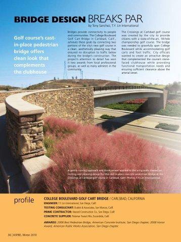 College Boulevard Golf Cart Bridge - Aspire - The Concrete Bridge ...