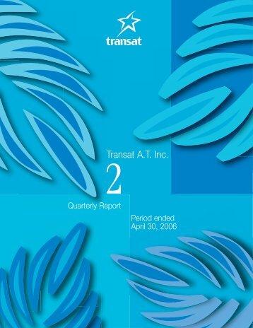 Second quarter report (PDF - 2.1MB) - Transat, Inc.