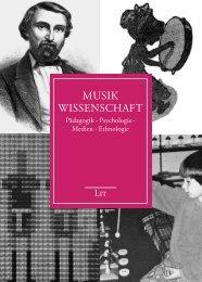Musik wissenschaft - LIT Verlag