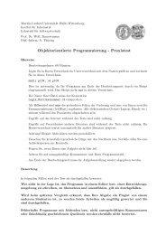 Objektorientierte Programmierung - Praxistest - Institut für Informatik ...
