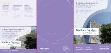 Einladung und Programm zum 6. Nürnberger ... - Nutricia