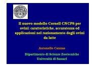 Il nuovo modello Cornell CNCPS per ovini - Scienze Zootecniche