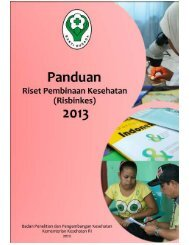 Panduan Risbinkes 2013 - Badan Litbangkes